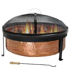 Wood Burning Firepit by Palm Springs Outdoor Patio Stone Coal Wood Burner Fire Pit