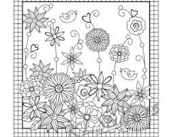 happy spring coloring bookmarks page instant download