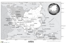 Blank Map Of Europe And Asia by National Geographic Education National Geographic Society