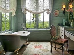 vintage tropical bathroom themed feat french window and