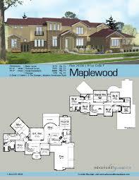 Wide Lot Floor Plans 1 5 Story Mediterranean House Plans Maplewood