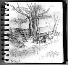 pencil sketches of different types of trees drawing of sketch