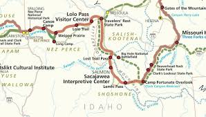 Idaho State Map by Hidden History Lewis And Clark Expedition Through Idaho