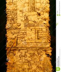 Aztec Empire Map A Page Of Codex Aztec Empire Reign Of Emperor Royalty Free Stock