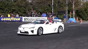lexus lfa convertible lexus lfa convertible drifting demo run at tokyoautosalon youtube