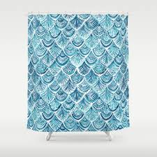 Glitter Shower Curtain Navy Like A Mermaid Barbarian By Barbra Ignatiev Bold Bohemian
