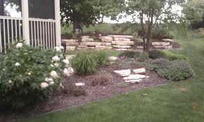 backyard stone garden design