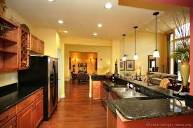 Kitchen Yellow Walls - pictures of kitchens traditional medium wood cabinets golden