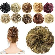 hair bun donut feshfen synthetic hair bun extensions scrunchy hair