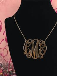 monogram necklaces gold gold monogram necklace w 2 pendant spirit filled designs