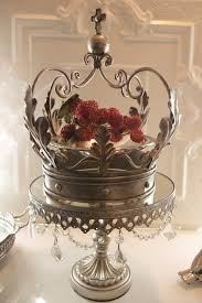 Royal Crown Centerpieces by Metal Vintage Chic Crown Candle Holder Planter By Glitznstuff