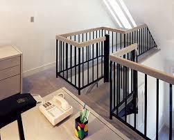 classic loft railing and stairwell enclosure metal loft railing