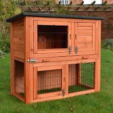 Cheap Rabbit Hutch Covers 2 Tier Rabbit Hutch Guinea Pig House Cage Pen With Built In Run