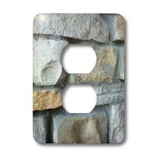 light switch covers amazon 3drose llc lsp 28339 6 stone wall 2 plug outlet cover switch