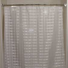 kartri vision check sheer polyester shower curtain w sewn eyelets