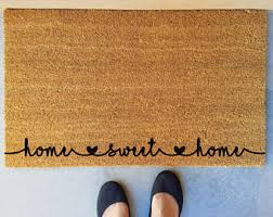 Monogrammed Rugs Outdoor by Monogram Door Mat Etsy