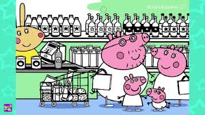 peppa pig shopping in the supermarket coloring book coloring
