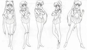 pin susie petri lineart sailor moon sailor