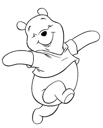 smiling pooh coloring free printable coloring pages