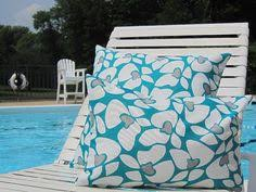 Lumbar Patio Pillows Turquoise Outdoor Pillows Outdoor Throw Pillows Patio Pillows