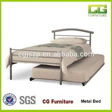 simple design cheap metal bed with trundle bed buy latest metal