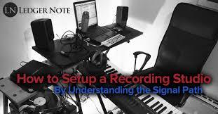 Home Recording Studio Design Book How To Setup A Recording Studio Ledger Note