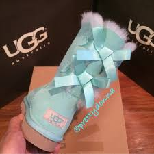 ugg bailey bow sale size 7 ugg ugg bailey bow blue 5 from camila s closet on