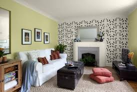 Funky Living Room Wallpaper - simple green wallpaper accent wall for living rooms wallpaper