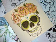 sugar skull birthday card handmade day of the dead tattoo