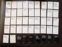 cards against humanity reject pack pax 2013 pack cards against humanity database