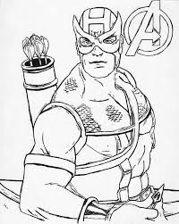 avengers hawkeye coloring pages eliolera com