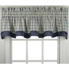 bristol plaid tailored tier window treament