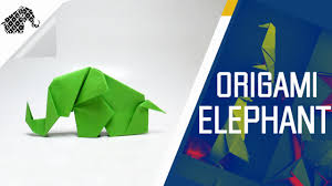 origami how to make an origami elephant youtube