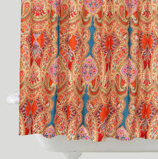 paisley venice shower curtain decor by color