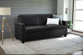 Sleeper Sofas With Memory Foam Mattresses Signature Sleep Mattresses Casey Faux Leather Queen Size Sleeper