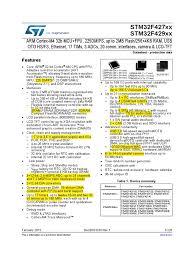 stm32f429 datasheet secure digital analog to digital converter