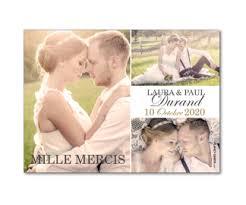 faire part de remerciement mariage carte de remerciement de mariage magnétique à personnaliser