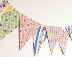 Shabby Chic Banner by Fabric Banners Bunting Garland U0026 More By Berryalamode On Etsy