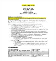 Sample Resume Pdf by Business Resume Template U2013 11 Free Word Excel Pdf Format