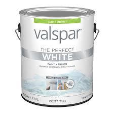 shop valspar perfect white satin latex interior paint and primer