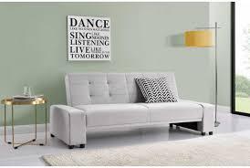 Click Clack Sofa Beds Uk by Cheap Modern 2 3 Seater Fabric Sofa Bed Light Grey Sleep Design