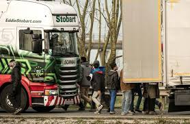 Eddie Stobart Duvet Set Calais Roofs Slashed And Locks Broken As Migrants Launch