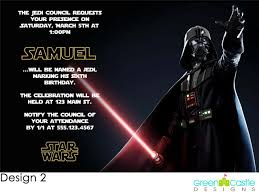 2 outstanding star wars personalized birthday invitations
