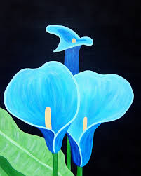 blue lilies blue lilies painting by vick