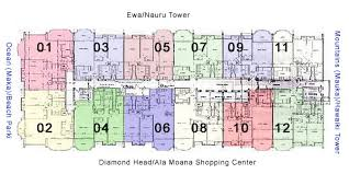 Eaton Center Floor Plan 1350 Ala Moana Honolulu Hawaii Condo By Hicondos Com