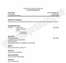 free resume templates for highschool graduates printable blank resume templates in word for students or graduates