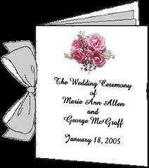 Booklet Wedding Programs Thinkwedding U0027s Guide To Wedding Programs