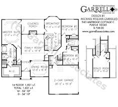 5 bedroom house plans with bonus room hartridge cottage c house plan house plans by garrell associates