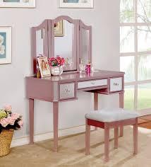 Pink Vanity Table Furniture Of America Clarisse Gold Vanity Set Cm Dk6148rg