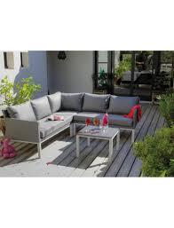 canapé d angle jardin canapé d angle oslo blanc argent table basse proloisirs salons